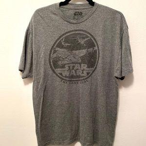 Star Wars The Last Jedi Graphic Tee Shirt Grey XL
